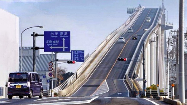 Jembatan Layang tercuram paling mengerikan di Jepang